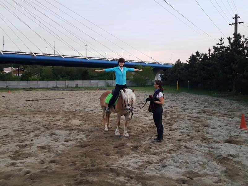 Echilibru in picioare pe cal