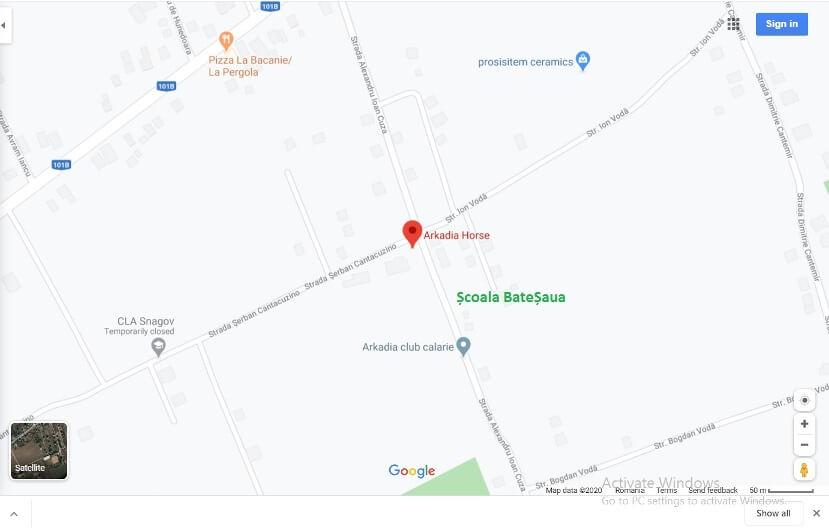 Harta Adresa Scoala BateSaua