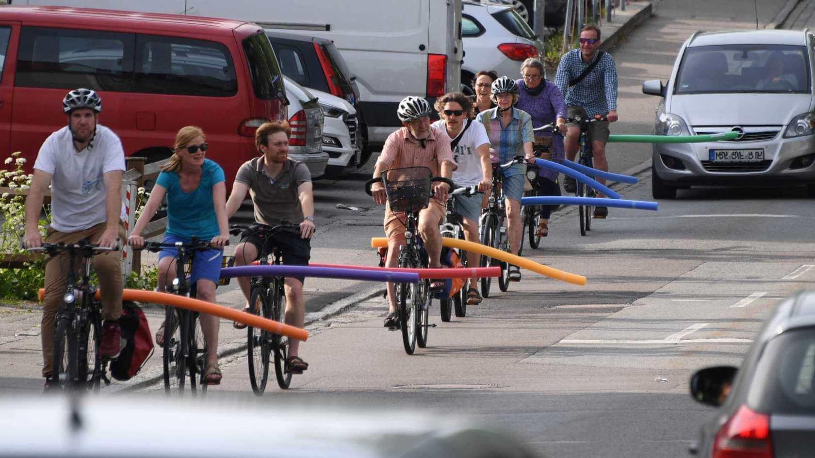 distanta minima pentru depasire la biciclete 1,5m