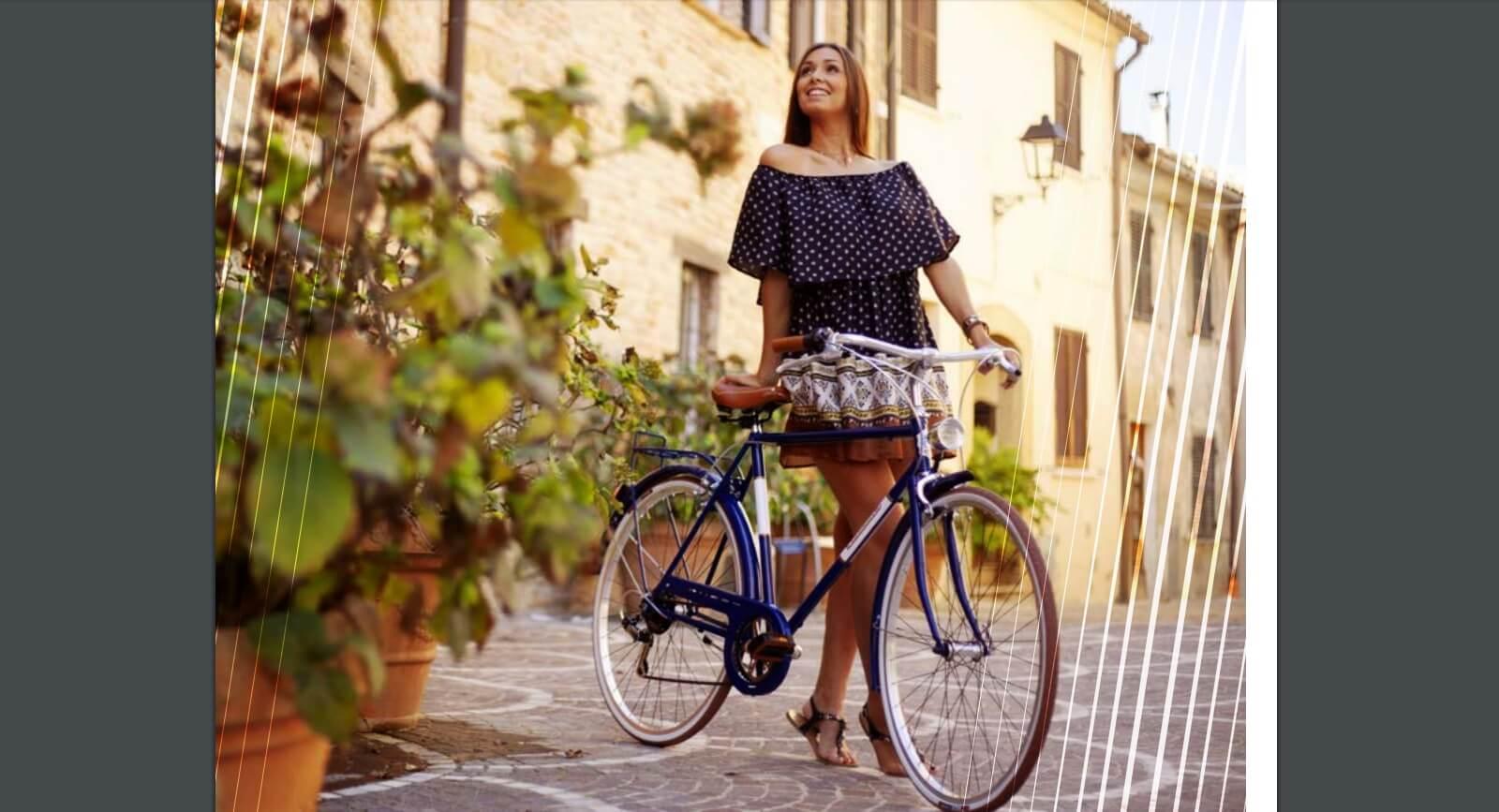 trafic urban citybike lady