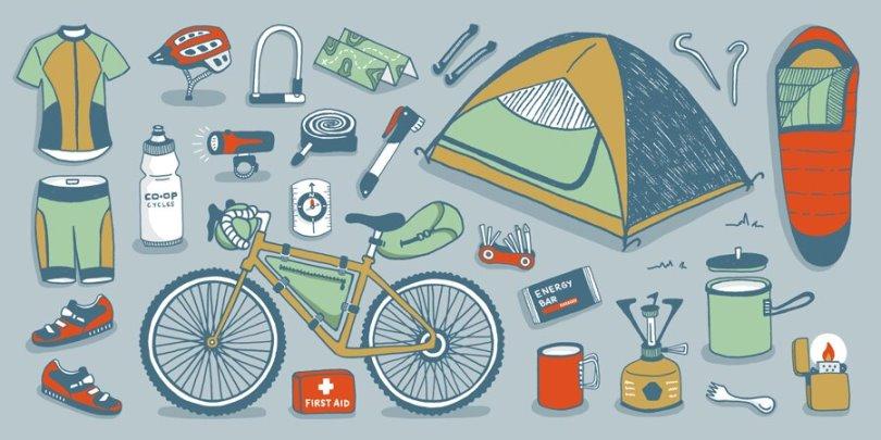 echipament necesar pedalare cu rucsac in spate