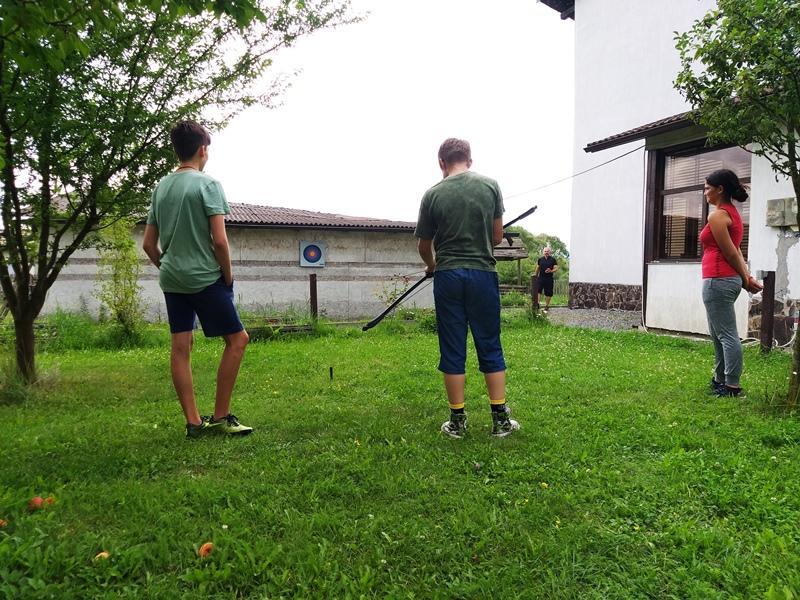 antrenamente tir cu arcul la TCF