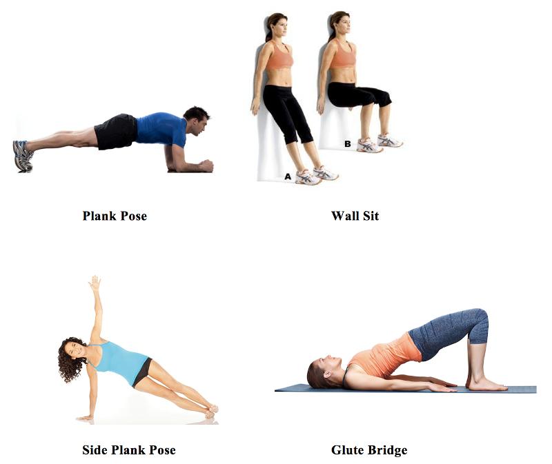 exercitii izometrice